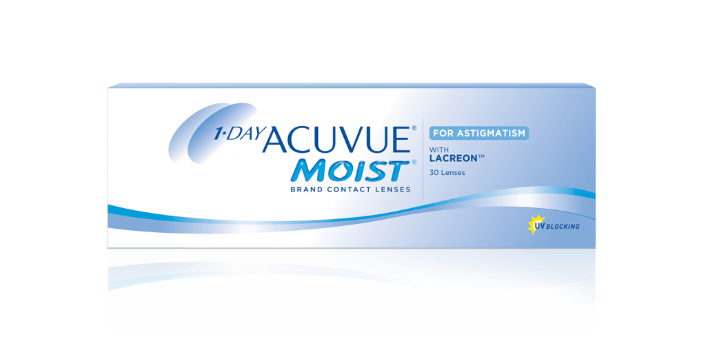 1- DAY ACUVUE® MOIST® para Astigmatismo